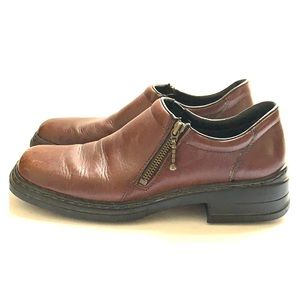 RIEKER ANTISTRESS, brown leather size 10/ EUR 41